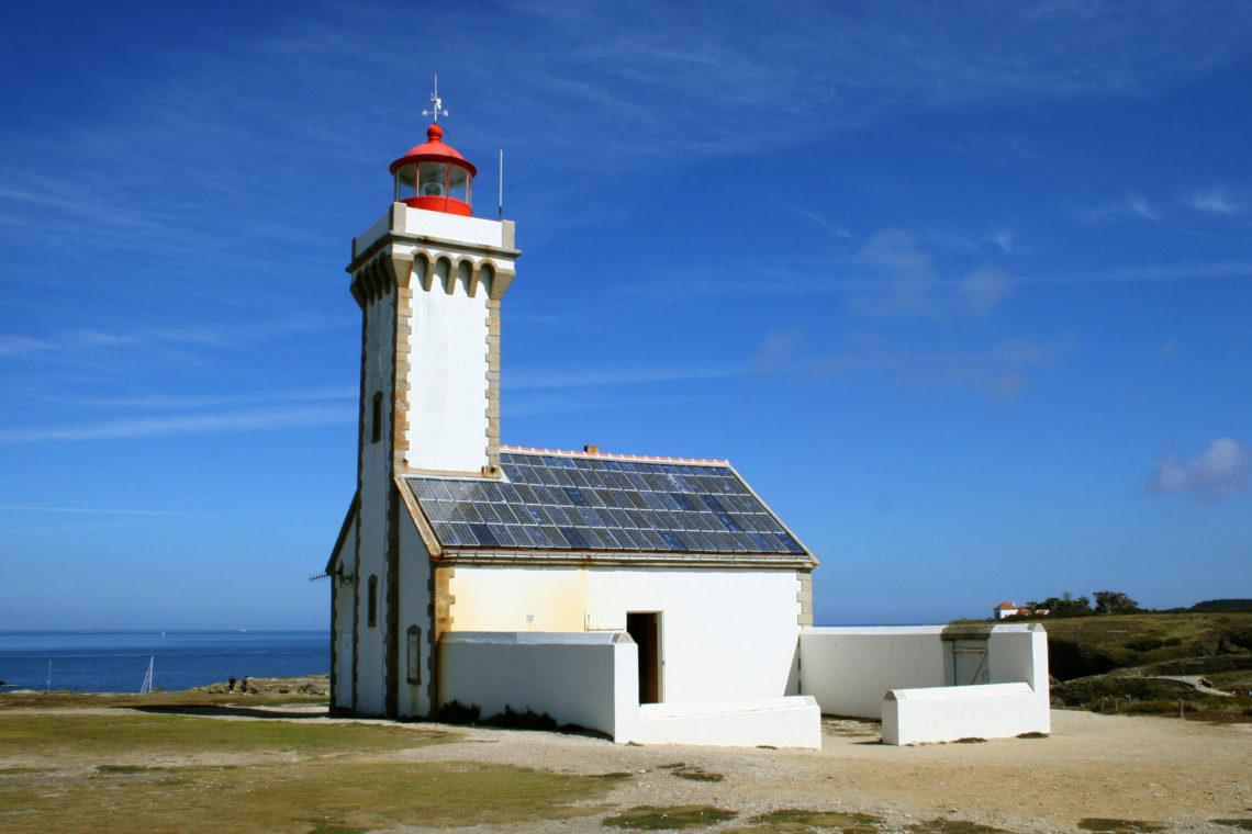 Le phare de la pointe des poulains à Belle Ile en Mer