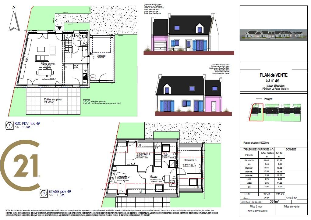 plans  lot 49 maison 0364 programme neuf belle ile en mer