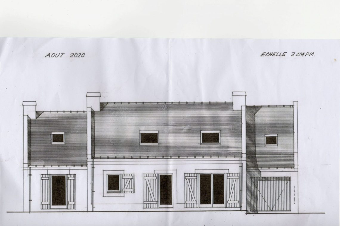 belle ile en mer plan façade maison 0013